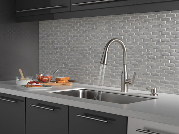 Single Handle Pull-Down Kitchen Faucet with Soap Dispenser and ShieldSpray® Technology (Recertified), image 6