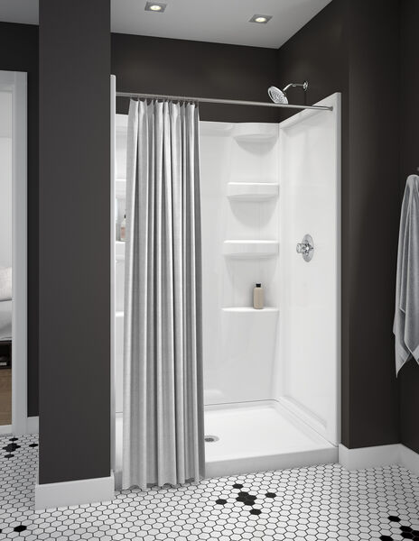 ProCrylic 48 in. x 34 in. Shower Base Center Drain, image 4