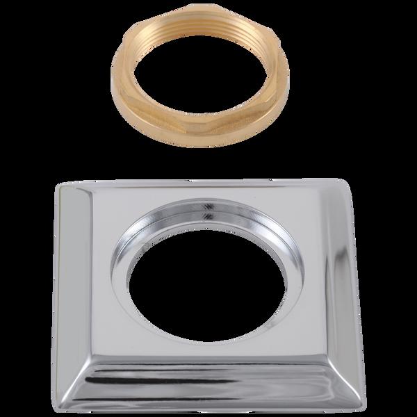 Handle Base, Nut & Gasket - Roman Tub, image 1
