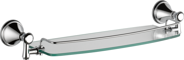 "18"" Glass Shelf with Removable Bar, image 2"