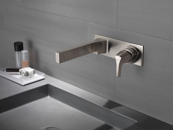 Single Handle Wall Mount Bathroom Faucet Trim, image 4
