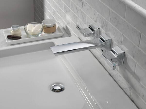 Two-Handle Wall Mount Bathroom Faucet Trim, image 4