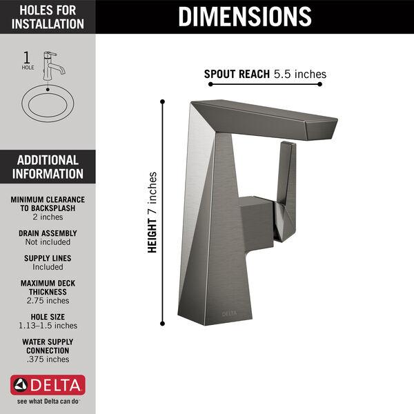 Single Handle Mid-Height Bathroom Faucet, image 2
