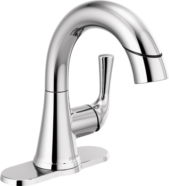 Single Handle Pull-Down Bathroom Faucet, image 4
