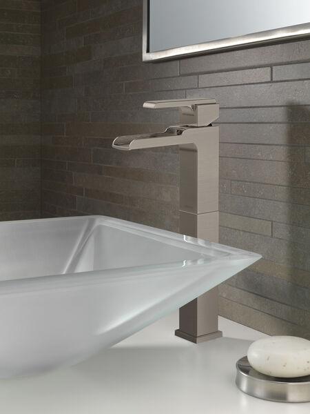 Single Handle Vessel Channel Bathroom Faucet, image 2