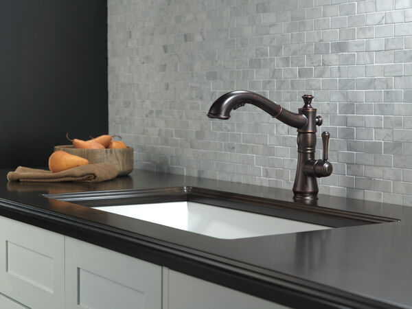 Single Handle Pull-Out Kitchen Faucet, image 9