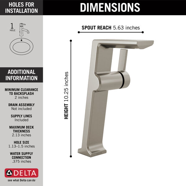 Single Handle Vessel Bathroom Faucet, image 3