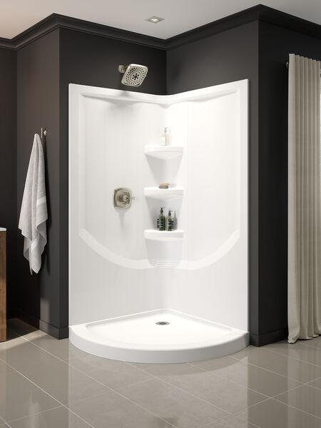 38'' Direct-to-Stud Corner Shower Wall Set, image 16