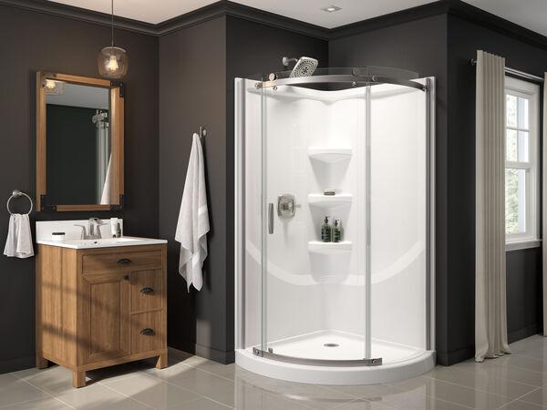 38'' Direct-to-Stud Corner Shower Wall Set, image 11