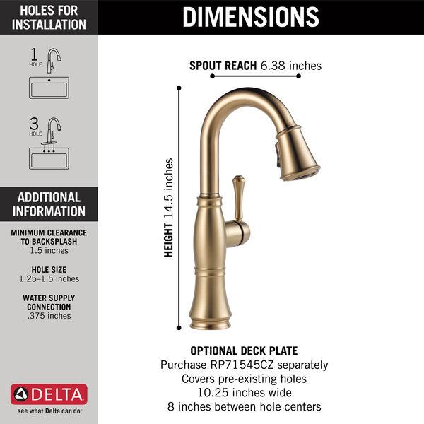 Single Handle Pulldown Bar/Prep Faucet, image 4
