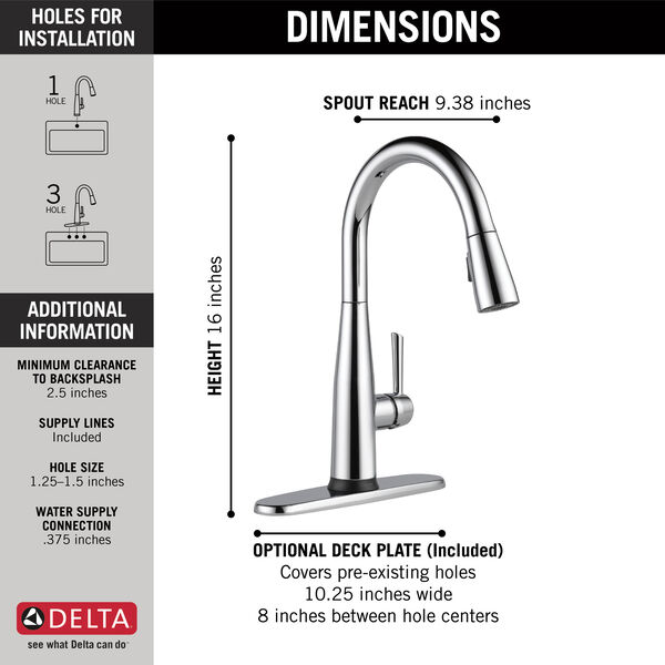 Single Handle Pull-Down Kitchen Faucet with Touch<sub>2</sub>O® Technology, image 4
