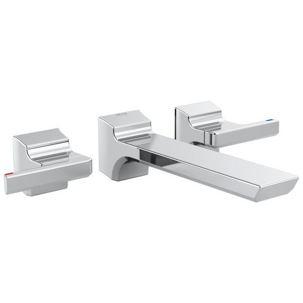 Two-Handle Wall Mount Bathroom Faucet Trim, image 1