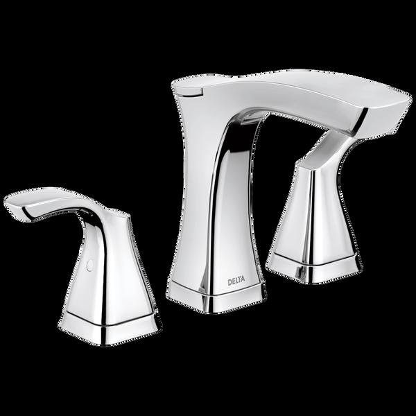 Two Handle Widespread Bathroom Faucet - Metal Pop-Up, image 1