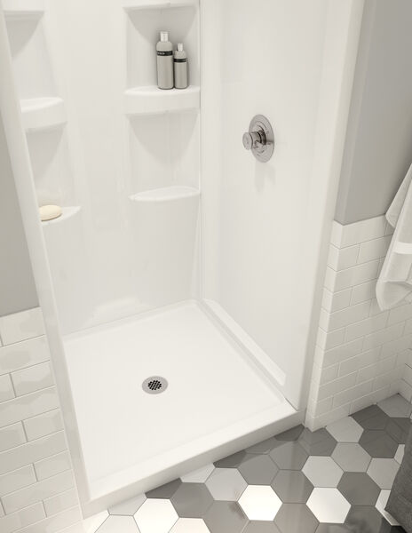 ProCrylic 36 in. x 36 in. Shower Base Center Drain, image 2