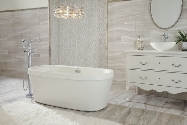 Single Handle Channel Vessel Bathroom Faucet, image 2