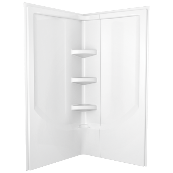38'' Direct-to-Stud Corner Shower Wall Set, image 2