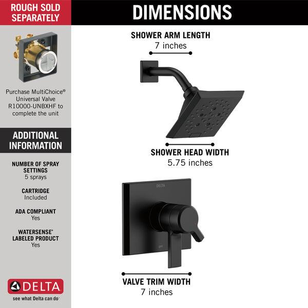 Monitor® 17 Series H<sub>2</sub>Okinetic® Shower Trim, image 7