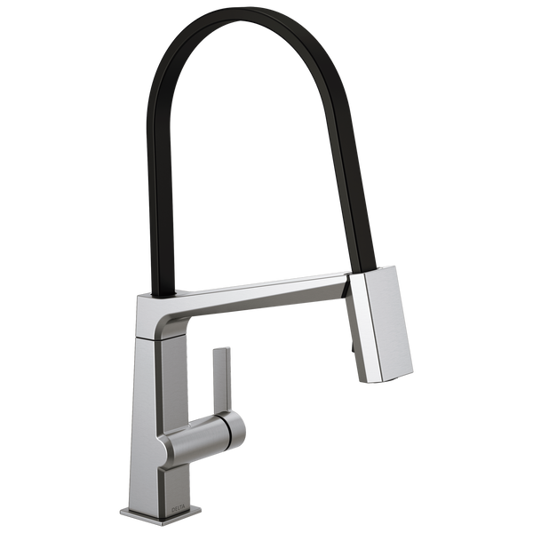 Single Handle Exposed Hose Kitchen Faucet, image 1