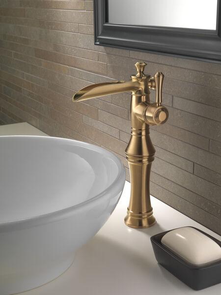 Single Handle Channel Vessel Bathroom Faucet 798lf Cz Delta Faucet