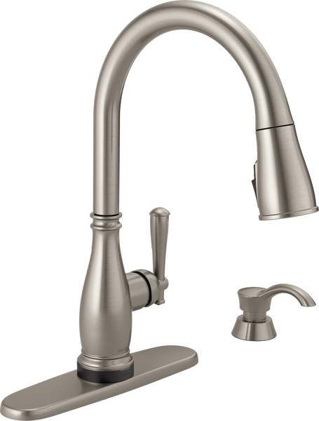 Single Handle Pull-Down Kitchen Faucet with Touch2O® and ShieldSpray® Technologies (Recertified), image 2