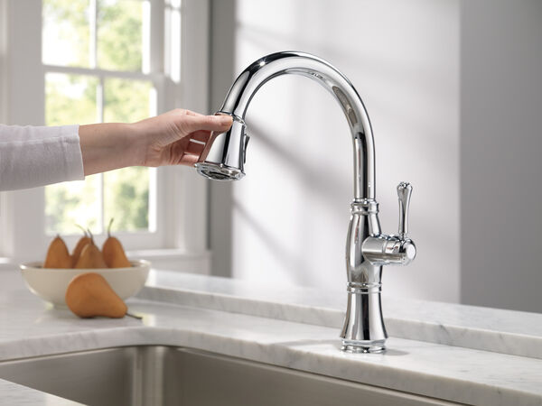 Single Handle Pull-Down Kitchen Faucet with ShieldSpray® Technology, image 8
