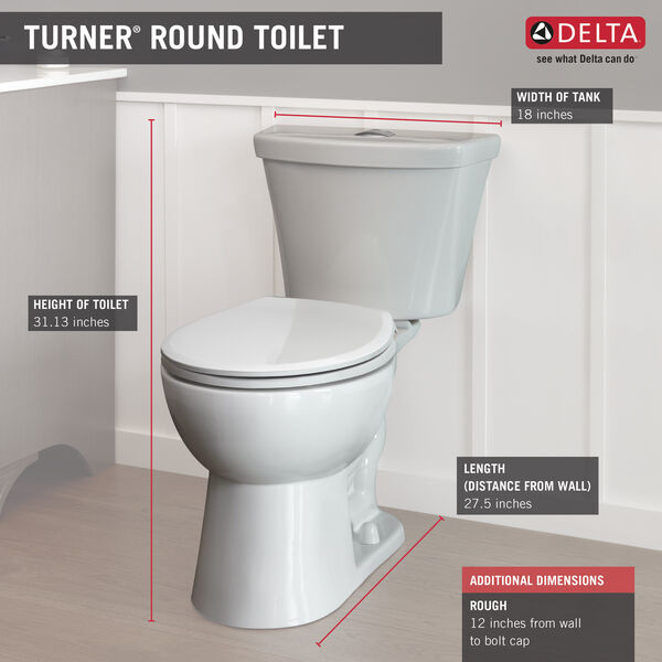 Round Front Dual-Flush Toilet, image 4