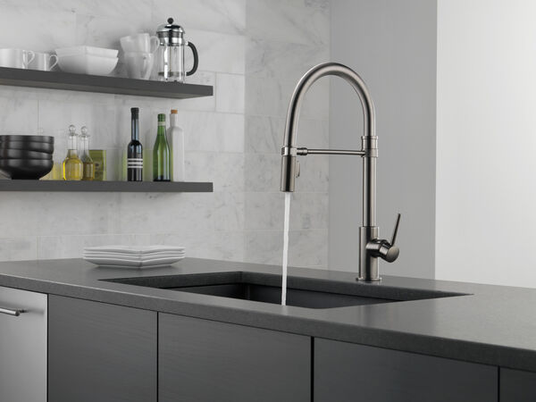 Single Handle Pull-Down Kitchen Faucet With Spring Spout, image 10