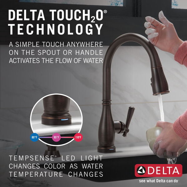 Single Handle Pull-Down Kitchen Faucet with Touch2O® and ShieldSpray® Technologies, image 12