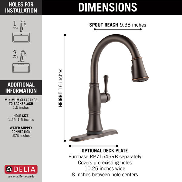 Single Handle Pull-Down Kitchen Faucet with Touch<sub>2</sub>O® and ShieldSpray® Technologies, image 23