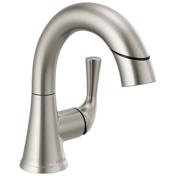 Single Handle Pull-Down Bathroom Faucet, image 1