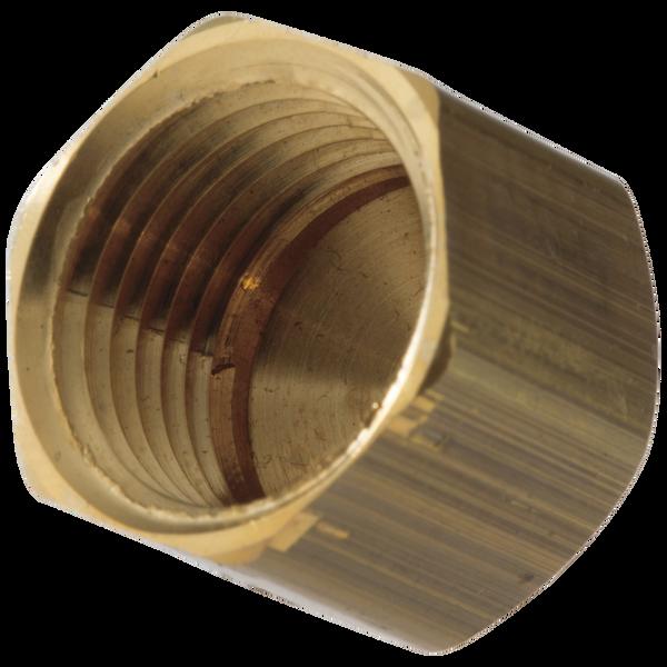 "1/2"" Female IPS Brass Cap, image 1"