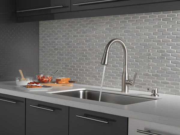 Single Handle Pull-Down Kitchen Faucet with Soap Dispenser and ShieldSpray® Technology (Recertified), image 7