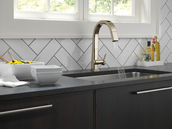 Single Handle Pull Down Kitchen Faucet, image 5