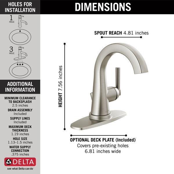 Single Handle Centerset Faucet, image 2