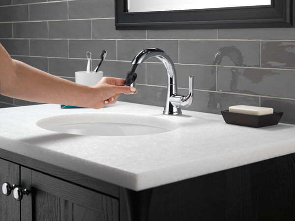 Single Handle Pull-Down Bathroom Faucet, image 6