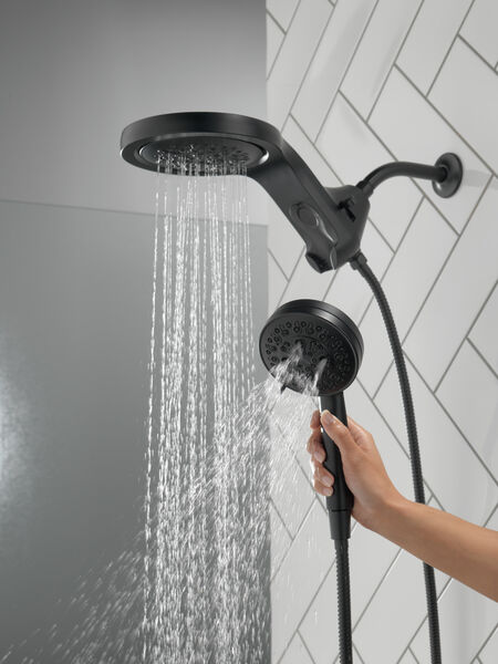 HydroRain® H<sub>2</sub>Okinetic® 5-Setting Two-in-One Shower Head, image 8