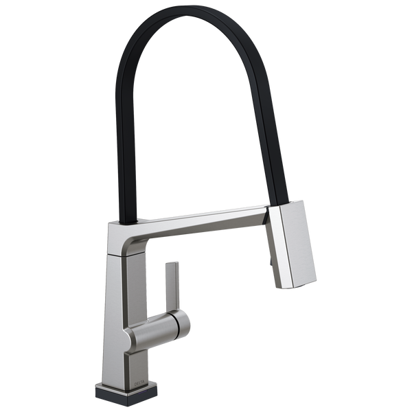 Single Handle Exposed Hose Kitchen Faucet with Touch2O Technology, image 1