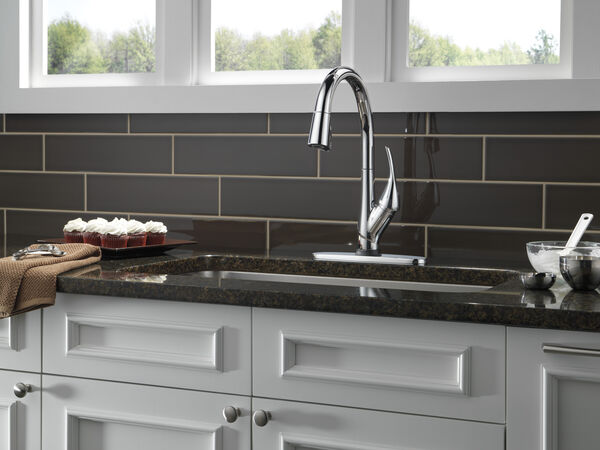 Single Handle Pull-Down Kitchen Faucet with Touch<sub>2</sub>O® and ShieldSpray® Technologies, image 6