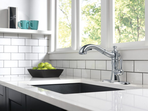 Single Handle Pull-Out Kitchen Faucet, image 10