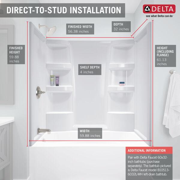 Bathtub Surround B66513 6032 Wh, Bathroom Tub Surrounds