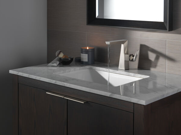 Single Handle Mid-Height Bathroom Faucet, image 3