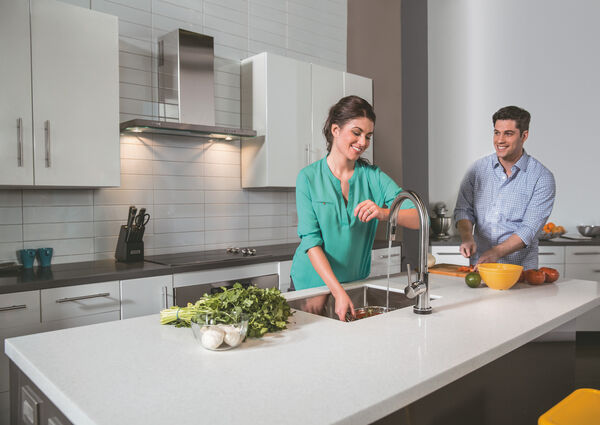 Single Handle Pull-Down Kitchen Faucet with Touch<sub>2</sub>O® Technology, image 23
