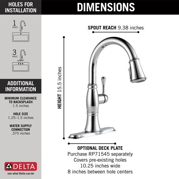 Single Handle Pulldown Kitchen Faucet, image 3
