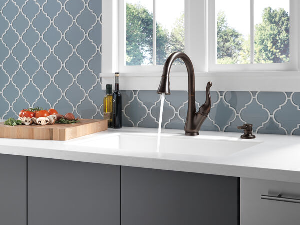 Single Handle Pull-Down Kitchen Faucet with Soap Dispenser, image 7