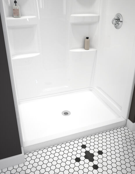 ProCrylic 48 in. x 34 in. Shower Base Center Drain, image 2