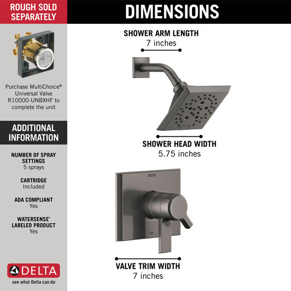 Monitor® 17 Series H2Okinetic® Shower Trim, image 3