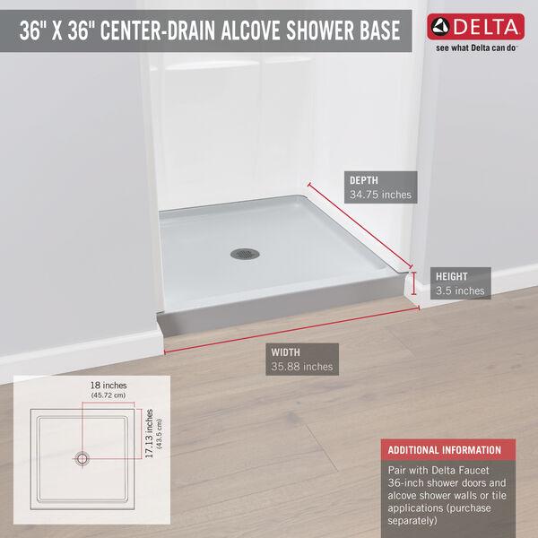 """36"""" X 36"""" Shower Base, image 3"""