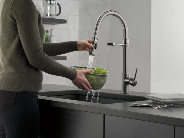 Single Handle Pull-Down Kitchen Faucet With Spring Spout, image 7