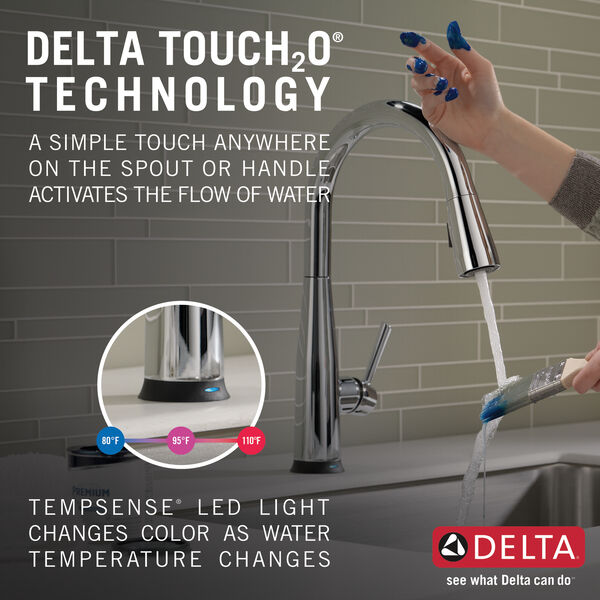 Single Handle Pull-Down Kitchen Faucet with Touch<sub>2</sub>O® Technology, image 20