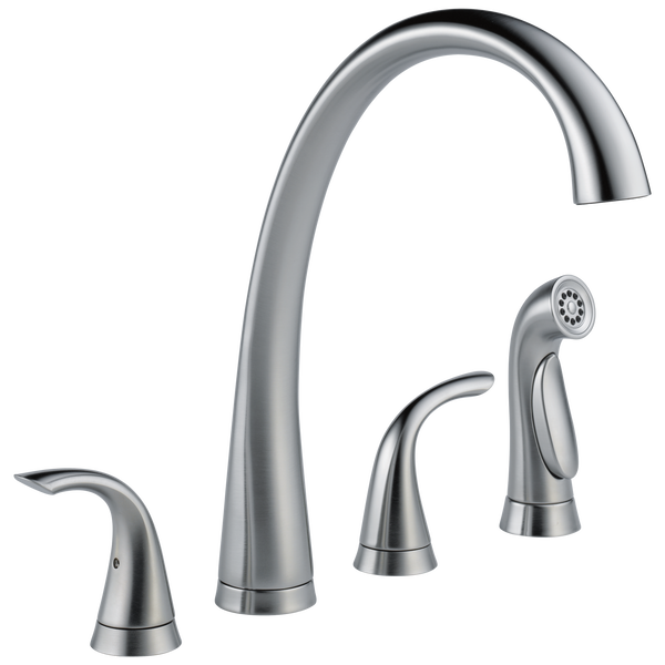 Two Handle Widespread Kitchen Faucet with Spray, image 1